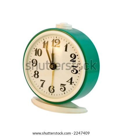 the retro alarm clock with clipping path
