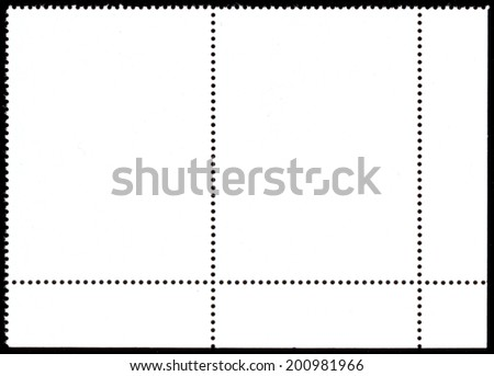 The reverse side of a postage stamp. - stock photo