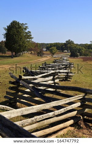 The Richmond Lynchburg stage road at Appomattox Court House historic village, the Civil War surrender site. - stock photo