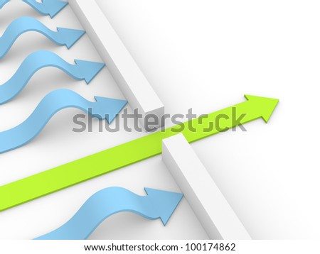 The right way - stock photo
