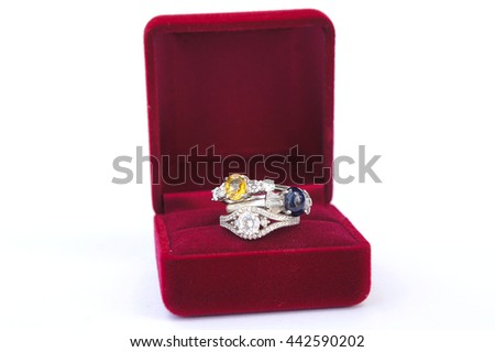 The ring jewelery People wear Give a gift as a token of my love and stability. - stock photo