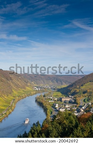 The river Moselle (Mosel) near Cochem / Sehl - stock photo