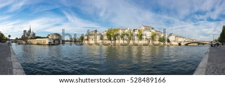The river Seine in the historical centre of Paris, the capital and most popular city of France