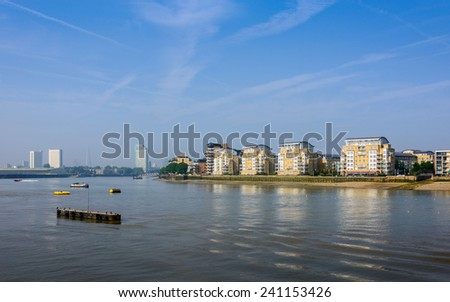 The river Thames in Greenwich, London, UK - stock photo