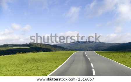 The road ahead - stock photo