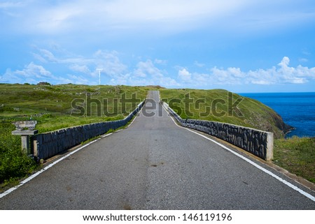 The road background - stock photo