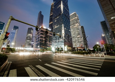 The road in the city of shenzhen,china