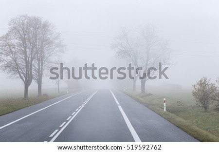 The road in the fog background for your design
