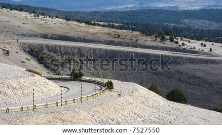 The road of Bedoin, climbing Mount Ventoux, Vaucluse, France