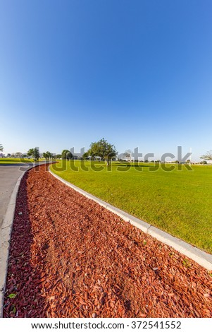 The Road to Tomorrow, in Aspire Park in Doha city, the capital of Qatar - stock photo