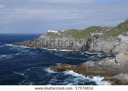 The rock coast of Ireland - stock photo