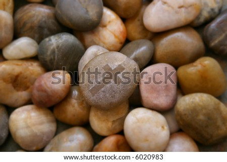 The rock solid strength of God rises to the top. - stock photo