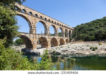 The Roman architects and hydraulic engineers who designed this bridge, created a technical as well as an artistic masterpiece.