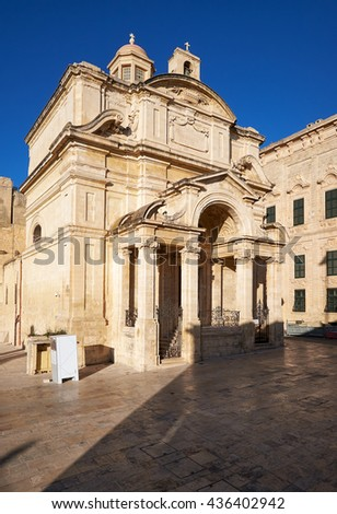 The Roman Catholic Church of St Catherine of Italy situated in Valletta, Malta