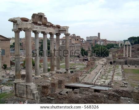 The Roman Forum - stock photo