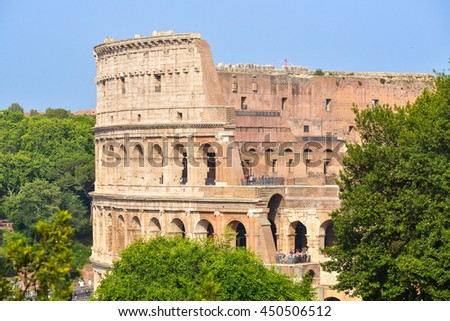 The Rome Colosseum in Rome, Italy - stock photo