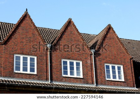the roof of the house!!!!!! - stock photo