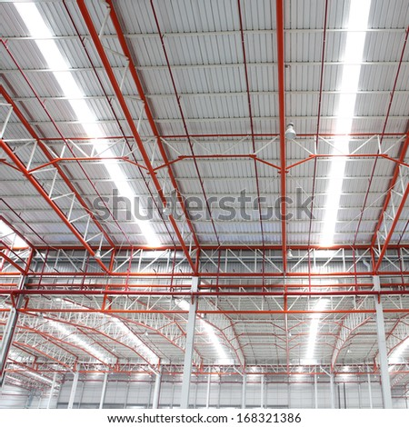 The roof of the warehouse - stock photo