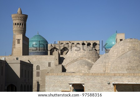 the roofs of the souk in uzbekistan