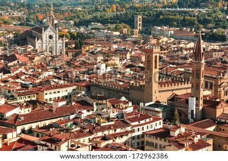 The Rooftops of Florence,Italy. - stock photo
