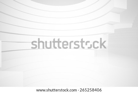 The room with lighting and walls of the rings. - stock photo