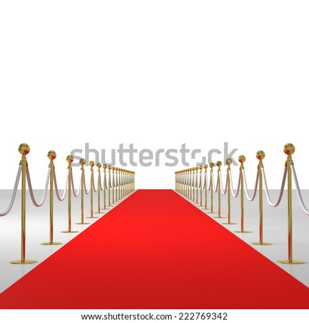 The rope barrier made from 3dcg - stock photo