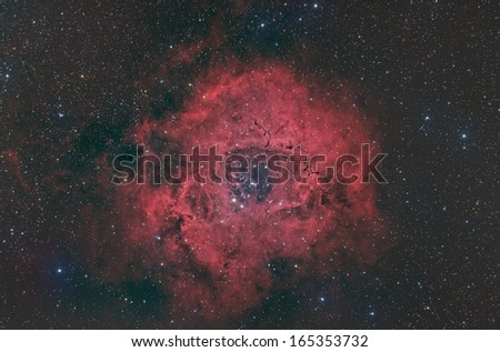 The Rosette, an Emission Nebula in the Constellation Monoceros