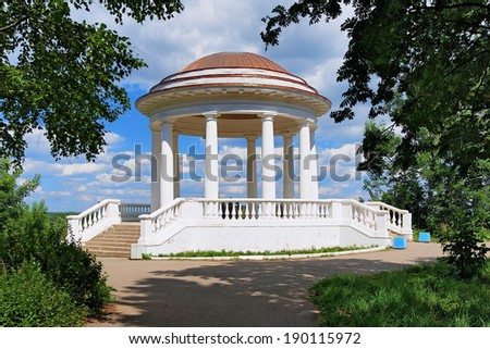 The rotunda in Alexander garden in Kirov, Russia - stock photo