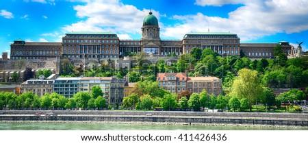 The Royal Palace, Budapest, Hungary - stock photo