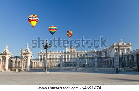 The Royal Palace in Madrid City. Spain - stock photo