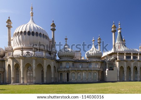 The Royal Pavilion a former Royal residence located in Brighton, England East Sussex - stock photo