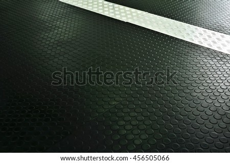 The rubber floor, Use non-slip matting to the room. - stock photo