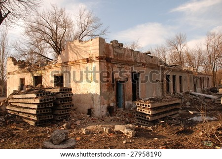 the ruins - stock photo