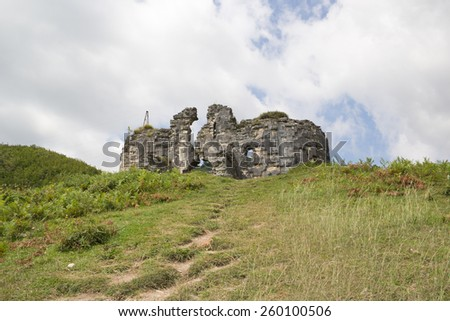 The ruins of the Bzyb temple built in the IX-X century in Abkhazia - stock photo