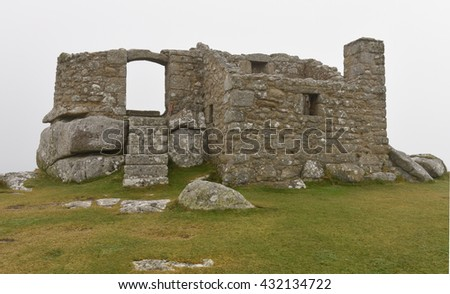 The Ruins of the Old Blockhouse, a 16th Century Granite Fort, Overlooking Old Grimsby Harbour on the Island of Tresco in the Isles of Scilly, England, UK