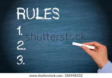 The Rules - stock photo