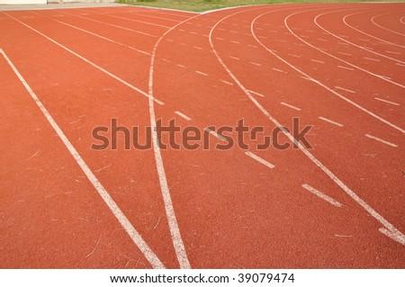 the running lane - stock photo