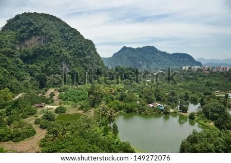 The rural view of Tambun, Ipoh, Malaysia - stock photo