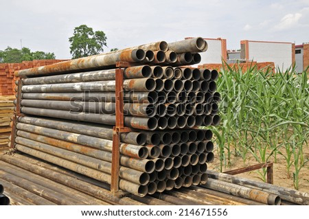 The rusty pipe  - stock photo