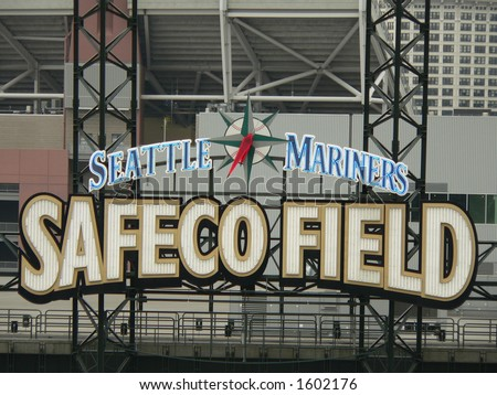 the Safeco Field sign - stock photo