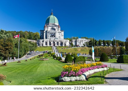 The Saint Joseph Oratory in Montreal, Canada is a National Historic Site of Canada - stock photo