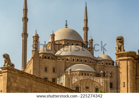The Saladin Citadel of Cairo, a fortified medieval castle with a mosque and museum serving as one of Egypt's top tourist destinations - stock photo