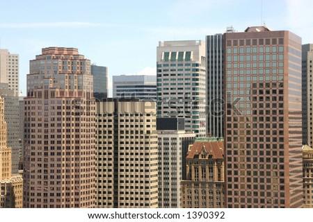 The San Francisco Financial District skyline. - stock photo