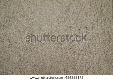The sand on the floor in the cloudy day. soft focus. - stock photo