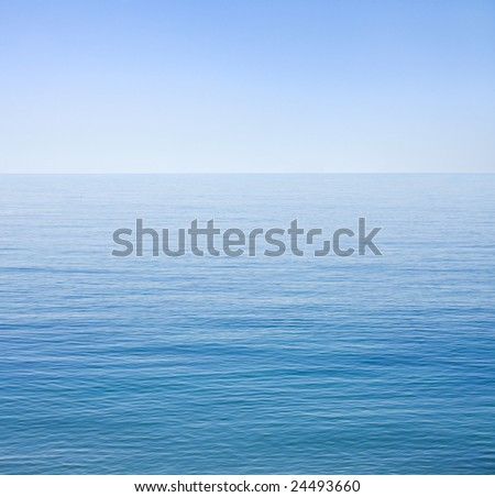 The Santa Barbara channel on an unusually calm day. - stock photo
