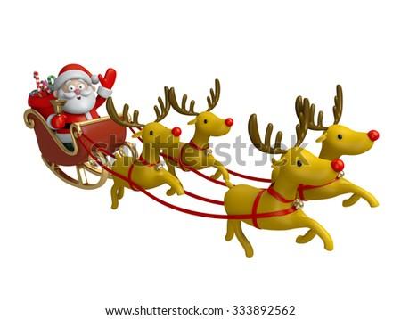 The Santa Claus and the Santa ride - stock photo