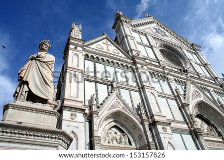 The Santa Croce Basilica in Florence - stock photo