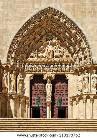 The Sarmental Door of Burgos Cathedral, Spain