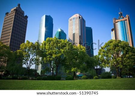 the scene of the city. - stock photo