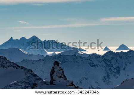 The scenery and sightseeing at Mountain Titlis Engelberg, Switzerland, 3rd December 2016